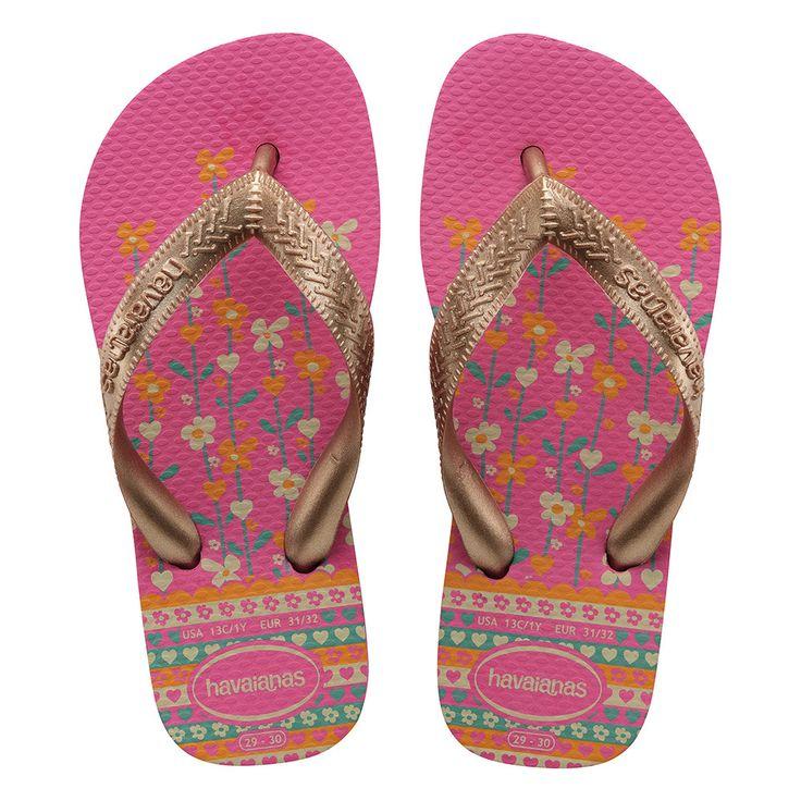 Havaianas Kids Flores Sandal Shocking Pink/Rose Gold  Price From: 22,74$CA  https://flopstore.ca/ca_french/kids/havaianas-kids-flores-sandal-shocking-pink-rose-gold.html