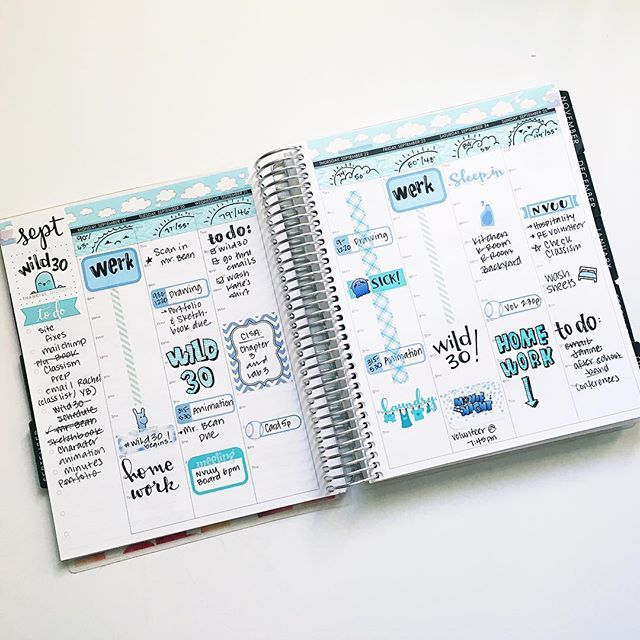 Last week finished (and yes I'm perpetually running late 😂😂) in my @erincondren #echourly planner!