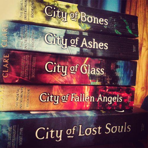 The mortal instruments books!
