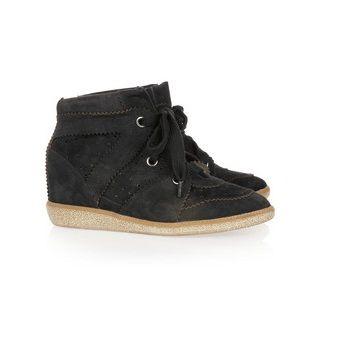 Isabel Marant Bobby Suede Sneakers Noir Baskets
