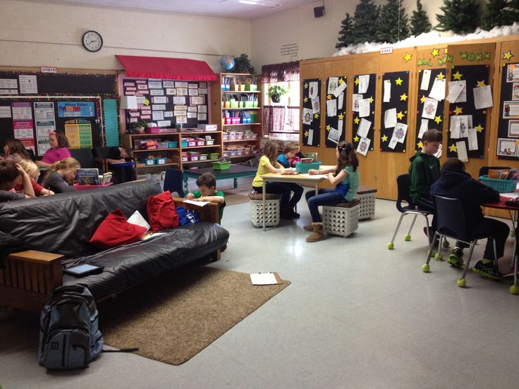 Elementary Classrooms Without Desks : I love this elementary classroom no desks just six