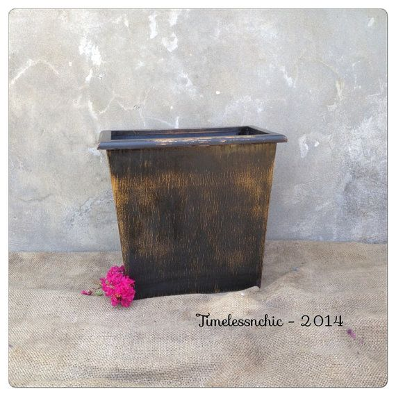 Trash Can  Wooden Trash Can  Rustic Home Decor  by TimelessNchic, $19.95 #trashbin #trashcan #woodenbox #woodbox #magazineholder #vintage #primitive #country #farmhouse #bohemian #western #repurpose #etsy #timelessnchic #homedecor #interior #distressed #painted #makeover