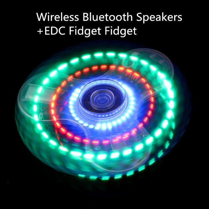 LED Light Fidget Spinner Bluetooth Speaker Finger Spiner EDC Hand Spinner Tri For Kids Autism ADHD Focus Anxiety Handspinner Toy //Price: $9.95 & FREE Shipping //     #fingerspinner