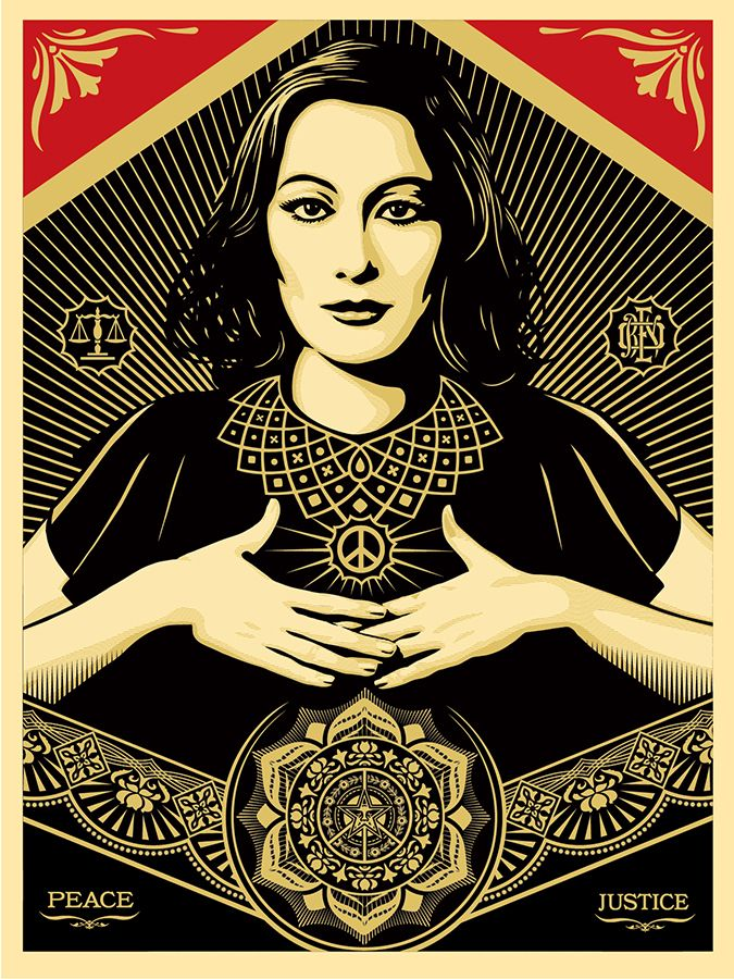 Peace & Justice Woman Print, by Shepard Fairey!  Available April 18th....I want it!