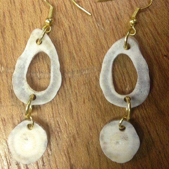 Deer antler earrings Handmade new Jewelry Earrings
