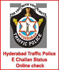 Hyderabad Traffic Police E Challan Status Online check, Traffic Police E Challan - Process to Pay through E seva,AP online,Net Banking, Hyderabad Trofic e-Challan Status