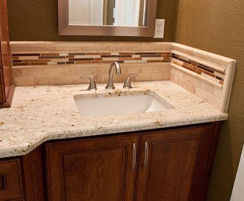 Glass Tile Backsplash Ideas | Granite Backsplash | Granite Backsplashes
