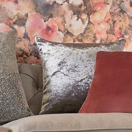 Silver Shimmer Metallic Cushion | Graham & Brown UK