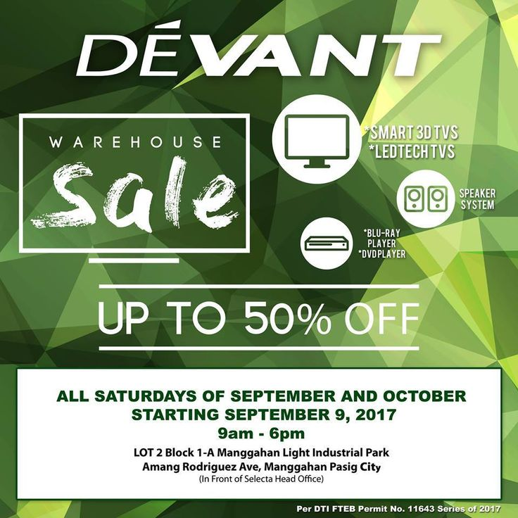 Up to 50% Off @ The Devant Warehouse Sale #DealsPinoy