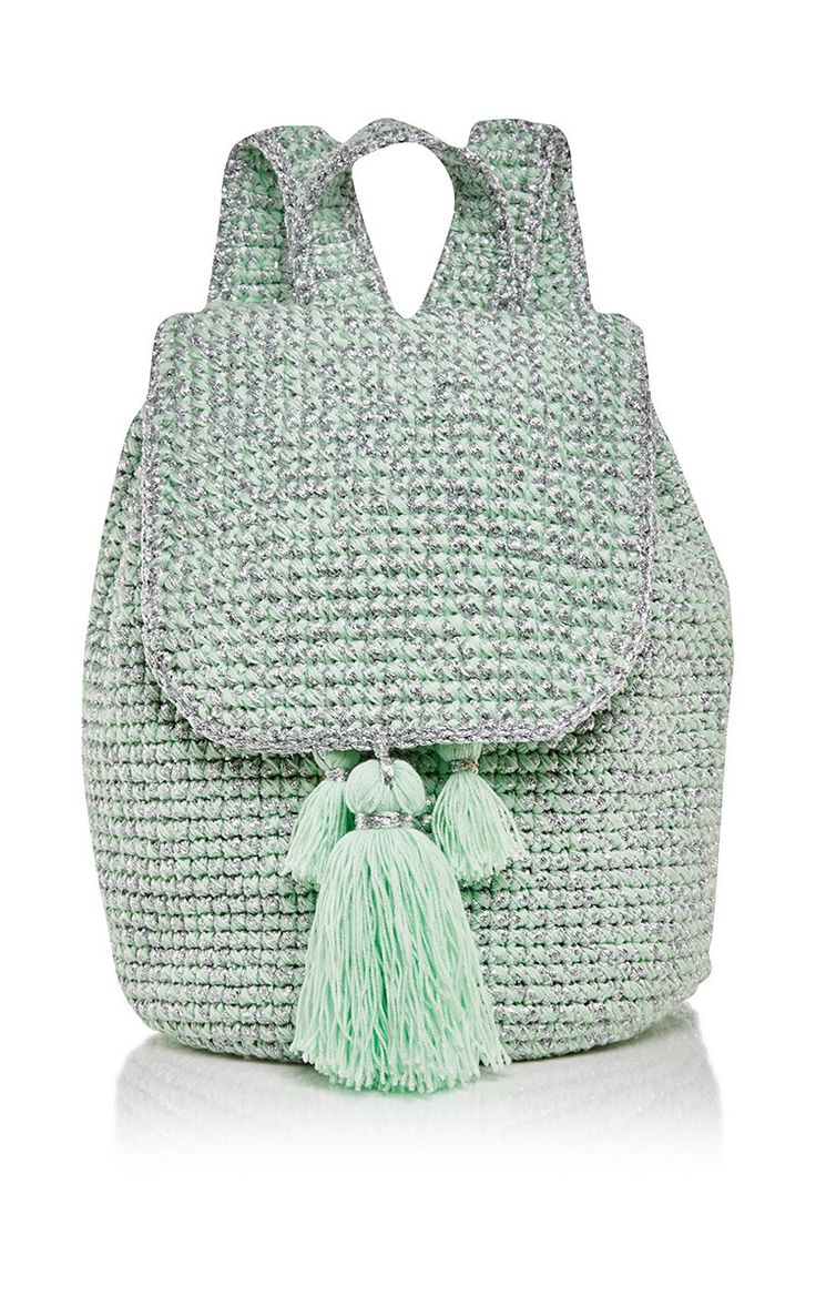 Mint Cote D'azur Backpack by 7II for Preorder on Moda Operandi