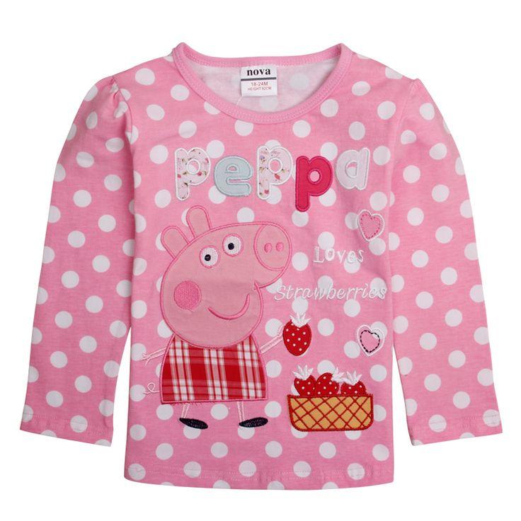 Polera Rosada manga larga Peppa Pig, Tallas 18 meses a 6 años, Valor 8.990.-