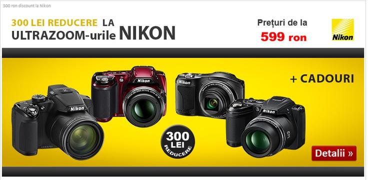 300 lei reducere la aparatele foto Nikon pe Evomag.ro   Zgarciti.ro