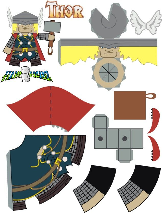 516 Best Paper Craft~Superhero Images On Pinterest | Paper Toys