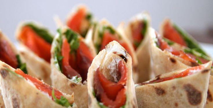lefse sandwich | Lefse-snacks med røkelaks > Oppskrift | Dinmat.no