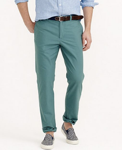 Spruce Green Chino Pants for Men