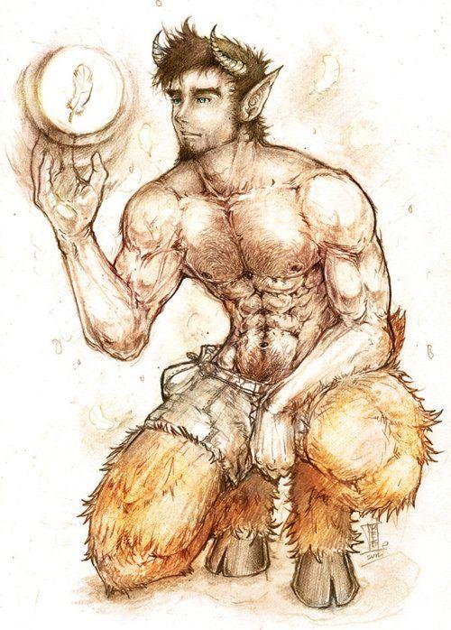 Satyr | Serious Satyr Art: Captivated | Centaurica