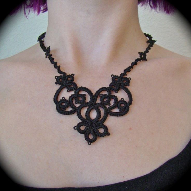 Tatted Lace Necklace - The Night Garden. $25,00, via Etsy.