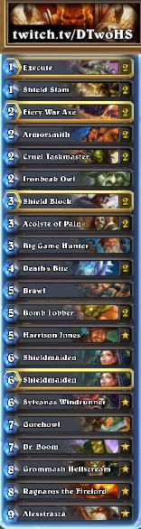 Team IHearthU Deck Guide: GvG Control Warrior