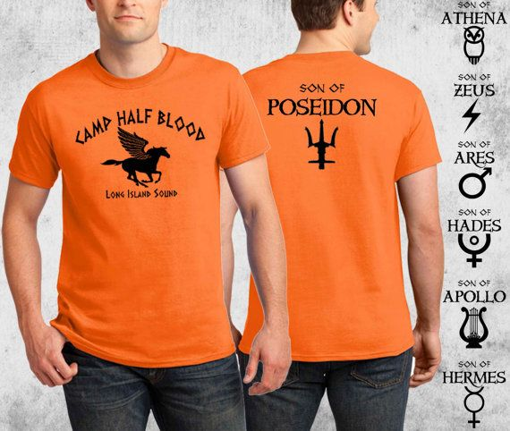 Kamp halfbloed T-shirt Percy Jackson Halloween kostuum 2 zijdig Print T-shirt volwassen jeugd peuter maten S-4XL