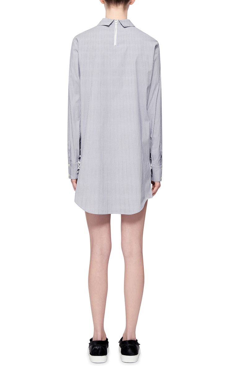 Printed Lace Shirtdress by Thakoon Addition Now Available on Moda Operandi