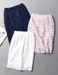 Японии женственный кружева звено полой цепи забор был тонкий эластичный пояс был высокий пакет бедра юбка весной и летом женщины 0.25