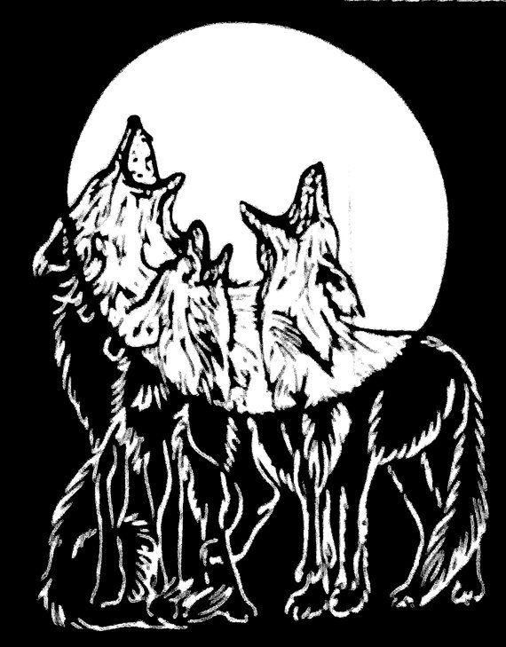 Для бабушек, гравюры картинки с волком