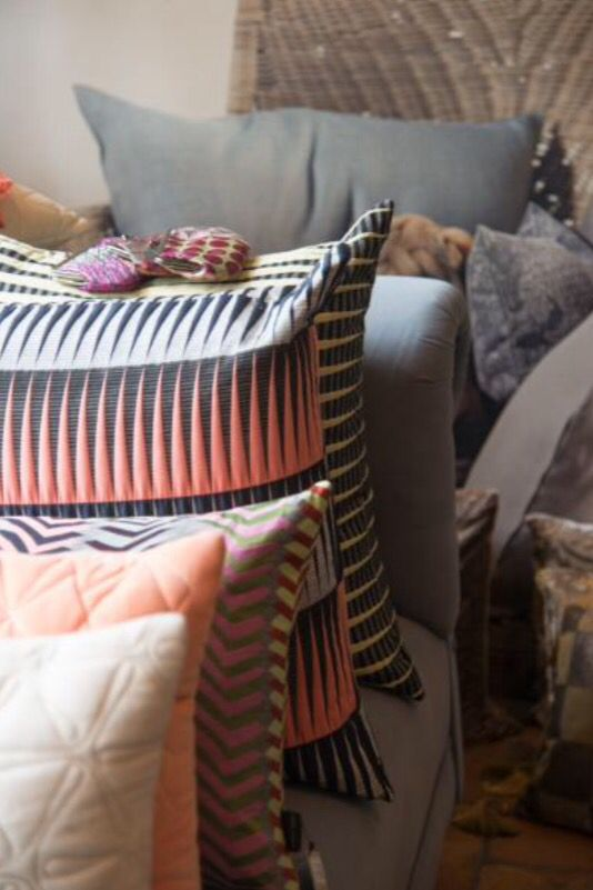 "This collection of pillows is from our feature ""Crowded House"""
