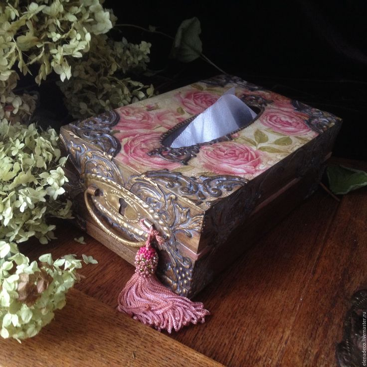 """Купить """"The English Garden"""" Салфетница - салфетница, салфетница декупаж, розы, английские розы"""