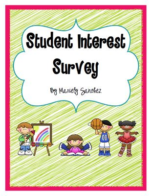 Student Interest Survey from Pencils and Magic Wands on TeachersNotebook.com -  (5 pages)  - A great way to learn more about what your students are interested in.