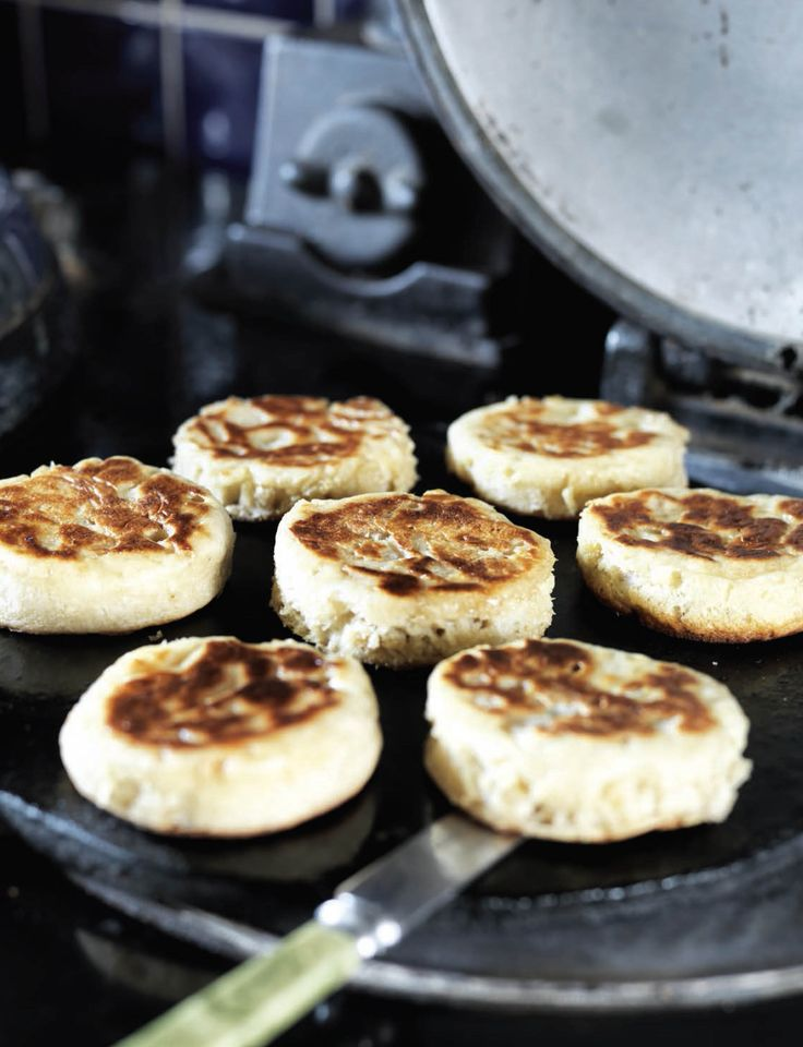 Homemade crumpets recipe from Sweet things from the Aga by Hannah Miles | Cooked