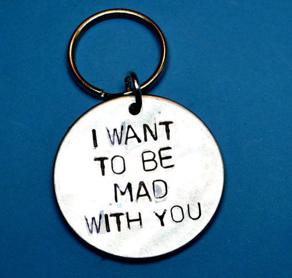 FUN boyfriend gift, Fun girlfriend gift, Mad with you, UK, Husband gift, Keyring fun, Personalised gift, Fun love gift,gift for him, wife