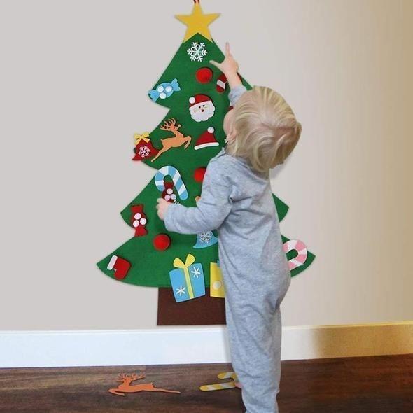 Diy Felt Christmas Tree Best Gift For Children Up To 60 Diy Felt Christmas Tree Wall Christmas Tree Christmas Trees For Kids