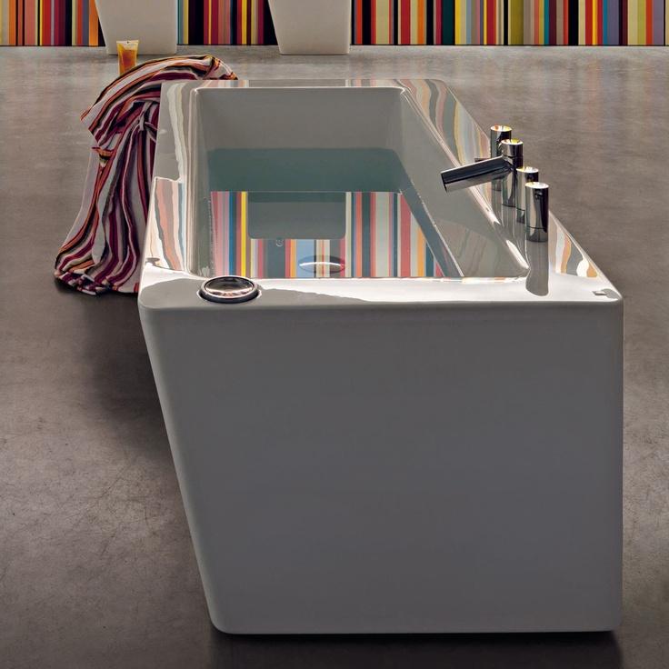 Laufen Il Bagno Alessi Dot Freestanding Bath.