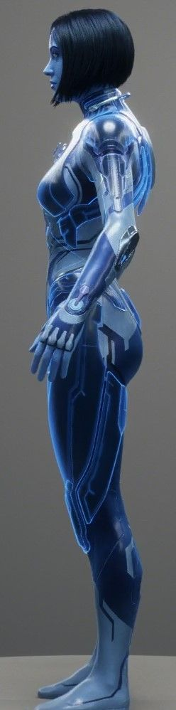 Halo 5 Cortana Render