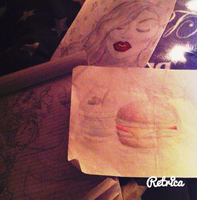 Hamburger drawing