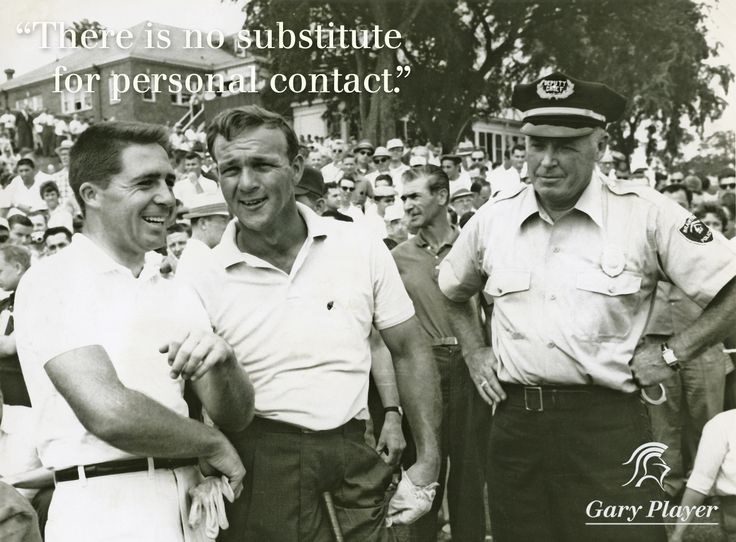 Gary Player and Arnold Palmer