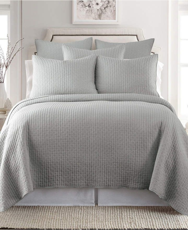 Levtex Home Cross Stitch Light Gray King Quilt Set Reviews Quilts Bedspreads Bed Bath Macy S King Quilt Sets Quilt Sets Bedding Quilt Sets