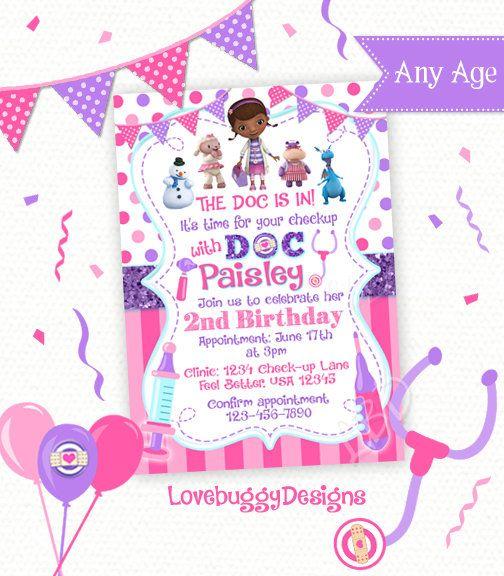 Doc Mcstuffins Invitations Doc Mcstuffins Birthday