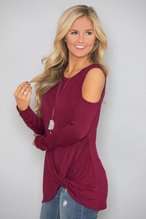 Where To Go From Here Blouse Burgundy