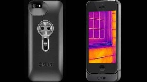 Компания FLIR Systems выпустила тепловизор для #iPhone 5. Чехол с камерой поступят в продажу уже этой весной.