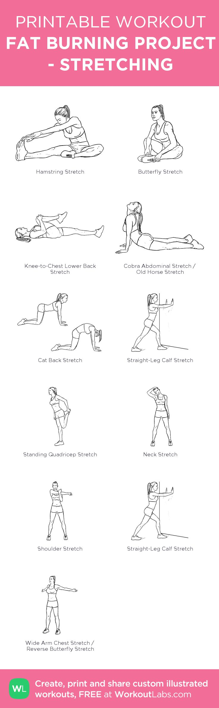 FAT BURNING PROJECT - STRETCHING: HYERICORE PROJECT. Stretching is very important. Before you do daily workout, stretch your muscles 10 minutes.