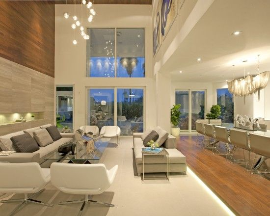 """DKOR Interiors - A Modern Miami Home- Interior Design""... In love with all that white, the high ceilings & contemp. furniture !"