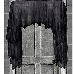 646 - Gothic Black Gauze Black Gauze - Thin, translucent black fabric drapes easily and has an infinite amount of uses. - Each