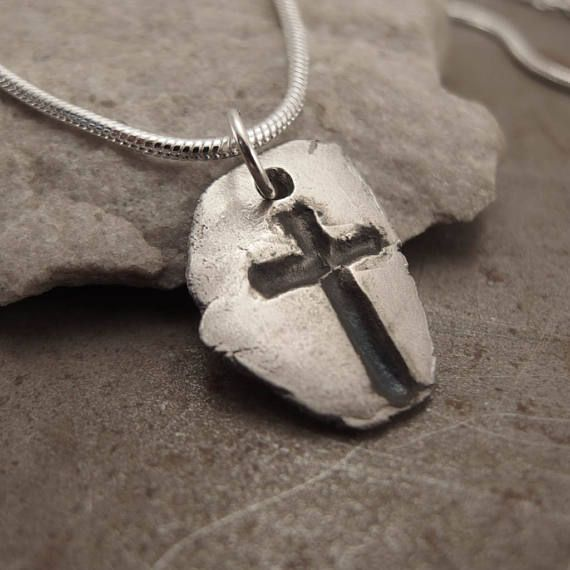 Gótico de plata de Christian Cruz colgante collar joyería