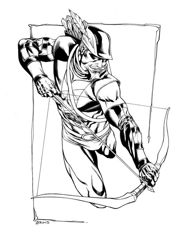 jla january green arrow sotd by robertatkins - Green Arrow Coloring Pages