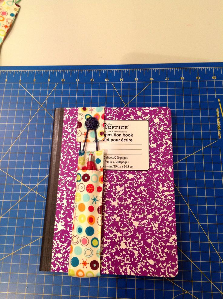 Journal book mark with pocket.