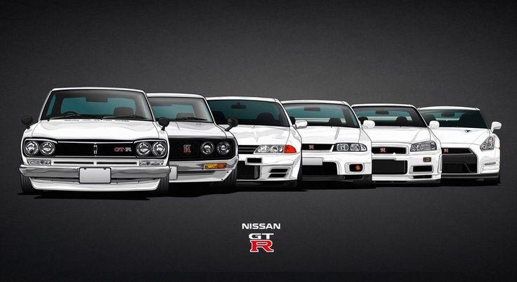 Nissan Skyline GT R Evolution KPGC10 C10 C110 R32 r33 R34 R35 Cars Poster 24x43 | eBay