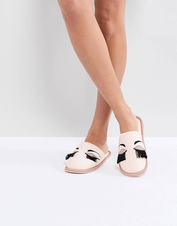 Carvela Closed Eyelash Slipper