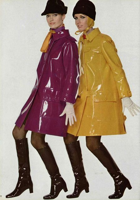 1960s slickers - where did these go - they made rain FUN - give me some slickers - I live in Seattle - I need one