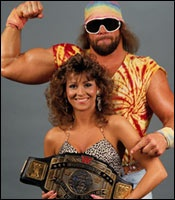 "Randy ""Macho Man"" Savage (November 15, 1952 - May 20, 2011) (Heart attack while driving, accident) Miss Elizabeth (November 19, 1960 - May 1, 2003) (Drug and alcohol overdose)"